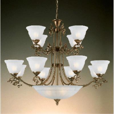 Crystorama Lighting 6209-AB Charleston - Twelve Light 2-Tier Chandelier