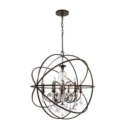 Crystorama Lighting 9219 Solaris - Six Light Chandelier