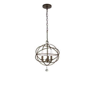 Crystorama Lighting 9225-EB Solaris - Three Light Chandelier