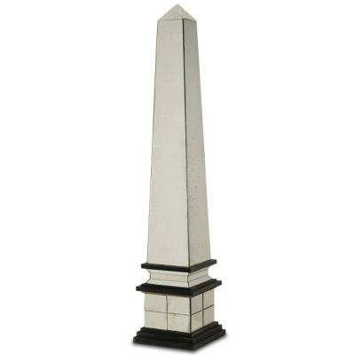 "Currey and Company 1003 Cicero - 74"" Decorative Obelisk"