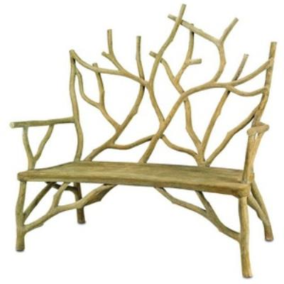 "Currey and Company 2009 Elwynn - 54"" Small Bench"