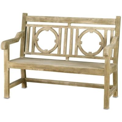 "Currey and Company 2385 Leagrave - 51"" Small Bench"