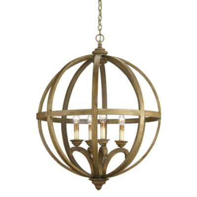 Currey and Company 9015 Axel Orb - Four Light Chandelier
