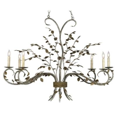 Currey and Company 9021 Raintree - Six Light Chandelier