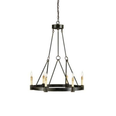 Currey and Company 9022 Chatelaine - Six Light Chandelier