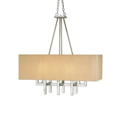 Currey and Company 9025 Eclipse Rectangular - Eight Light Chandelier