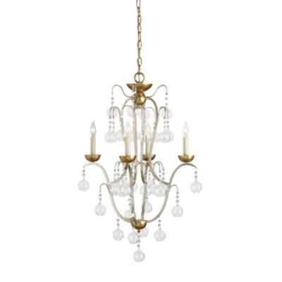 Currey and Company 9027 Allusion - Four Light Chandelier