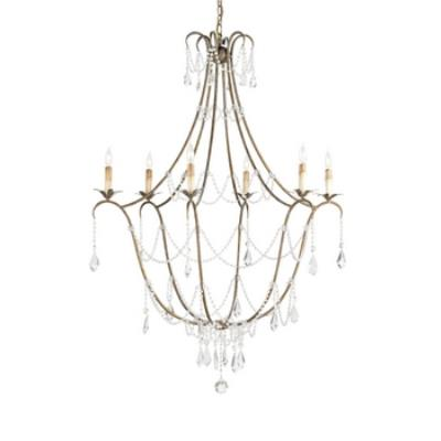 Currey and Company 9048 Elizabeth - Six Light Chandelier
