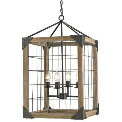 Currey and Company 9083 Eufaula - Four Light Hanging Lantern