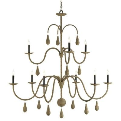 Currey and Company 9111 Bayside - Nine Light Large Chandelier