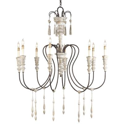 Currey and Company 9120 Hannah - Eight Light Chandelier