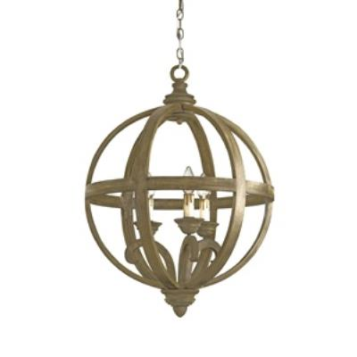 Currey and Company 9133 Axel - Three Light Orb Small Chandelier