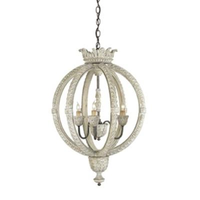 Currey and Company 9134 Dauphin - Three Light Small Chandelier