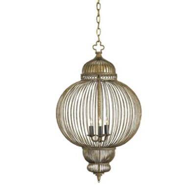 Currey and Company 9137 Giltspur - Three Light Chandelier