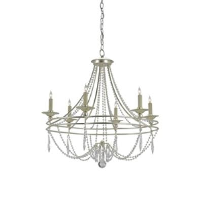 Currey and Company 9161 Watteau - Six Light Chandelier