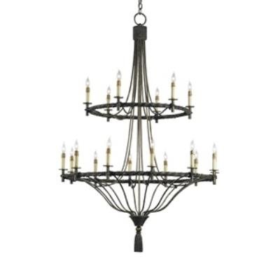 Currey and Company 9174 Priorwood - Eighteen Light Chandelier
