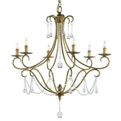 Currey and Company 9192 Agostina - Six Light Chandelier
