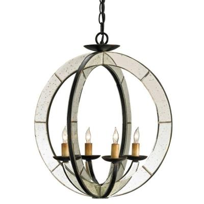 Currey and Company 9400 Meridian - Four Light Chandelier