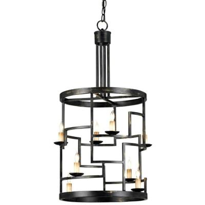 Currey and Company 9419 Spyro - Eight Light Hanging Lantern