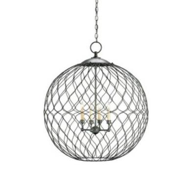 Currey and Company 9617 Simpatico Orb - Four Light Large Chandelier