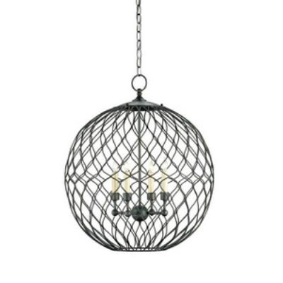 Currey and Company 9618 Simpatico Orb - Four Light Small Chandelier