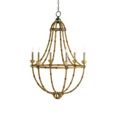 Currey and Company 9693 Palm Beach - Six Light Chandelier