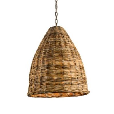 Currey and Company 9845 Basket - One Light Pendant