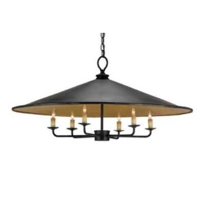 Currey and Company 9873 Brussels - Six Light Pendant