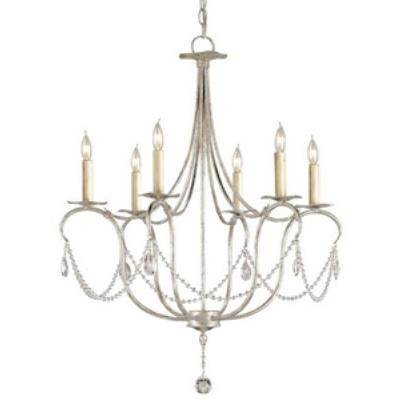 Currey and Company 9890 Crystal - Six Light Small Chandelier