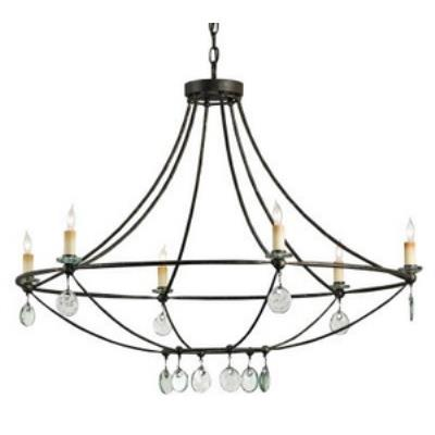 Currey and Company 9921 Novella - Six Light Chandelier