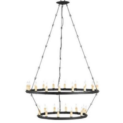 Currey and Company 9935 Toulouse - Thirty Light 2-Tier Chandelier