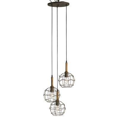 Currey and Company 9968 Sibley Trio - Three Light Adjustable Pendant