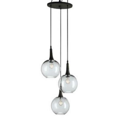 Currey and Company 9969 Beckett Trio - Three Light Adjustable Pendant