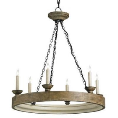 Currey and Company 9972 Beachhouse - Six Light Chandelier