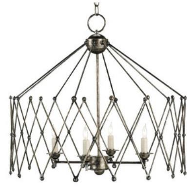 Currey and Company 9998 Accordion - Four Light Chandelier
