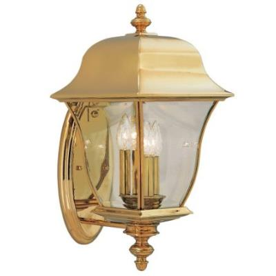 Designers Fountain 1552-PVD-PB 3 Light Outdoor Wall Lantern