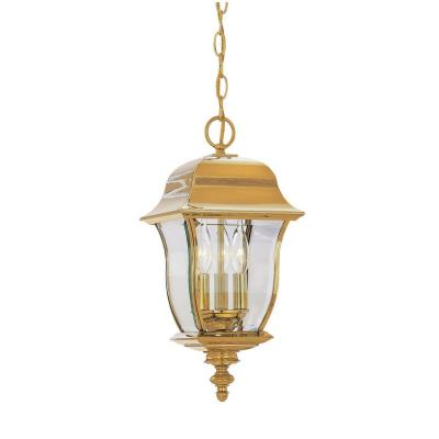 Designers Fountain 1554-PVD-PB 3 Light Outdoor Hanging Lantern