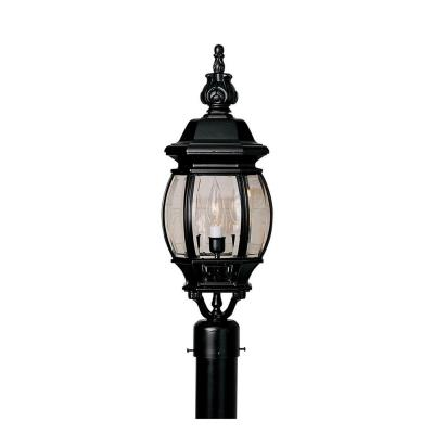 Designers Fountain 2416-BK Riviera - Three Light Outdoor Post Lantern