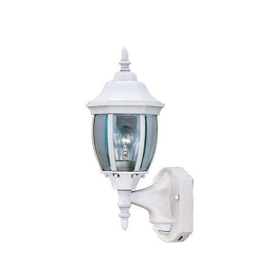 Designers Fountain 2420MD-WH Tiverton Motion Detector - One Light Outdoor Wall Lantern