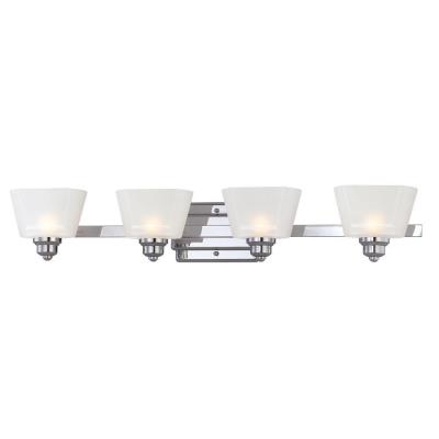 Designers Fountain 6674-CH Metropolis - Four Light Bath Fixture