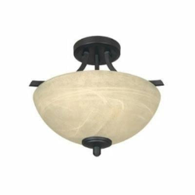 Designers Fountain 82911 Tackwood - Two Light Semi Flush Mount