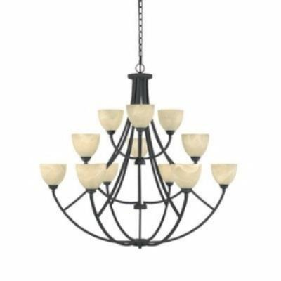 Designers Fountain 829812 Tackwood - Twelve Light Chandelier