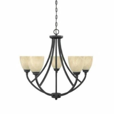 Designers Fountain 82985 Tackwood - Five Light Chandelier