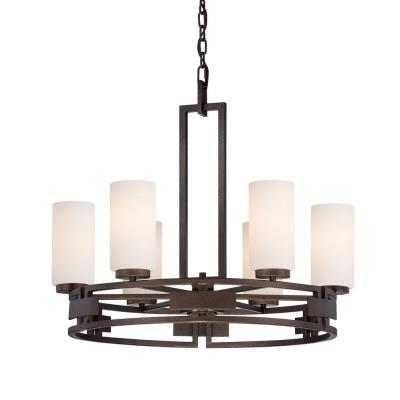 Designers Fountain 83886-FBZ Del Ray - Six Light Chandelier