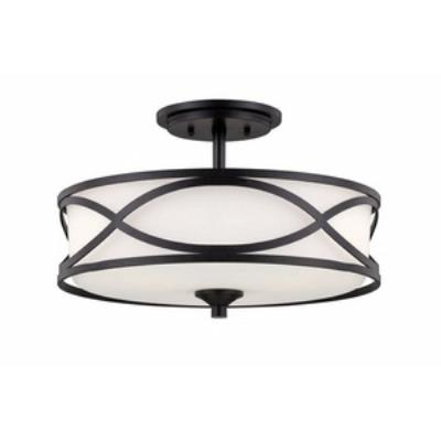 Designers Fountain 84411-ART Bellemeade - Three Light Semi-Flush Mount