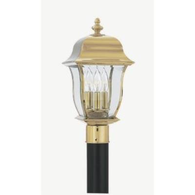 Designers Fountain 1556-PVD-PB 3 Light Outdoor Post Lantern