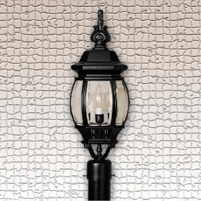 Designers Fountain 2416-BK Riviera - Three Light Outdoor Post Lantern