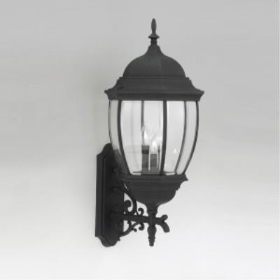 Designers Fountain 2442-BK Triverton - Three Light Outdoor Wall Lantern