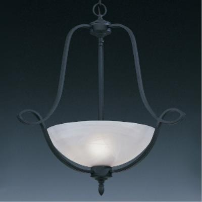 Designers Fountain 5823-NI Iron Pendant With Faux Alabaster