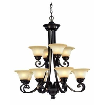 Dolan Lighting 1082-207 Brittany - Twelve Light 2-Tier Chandelier